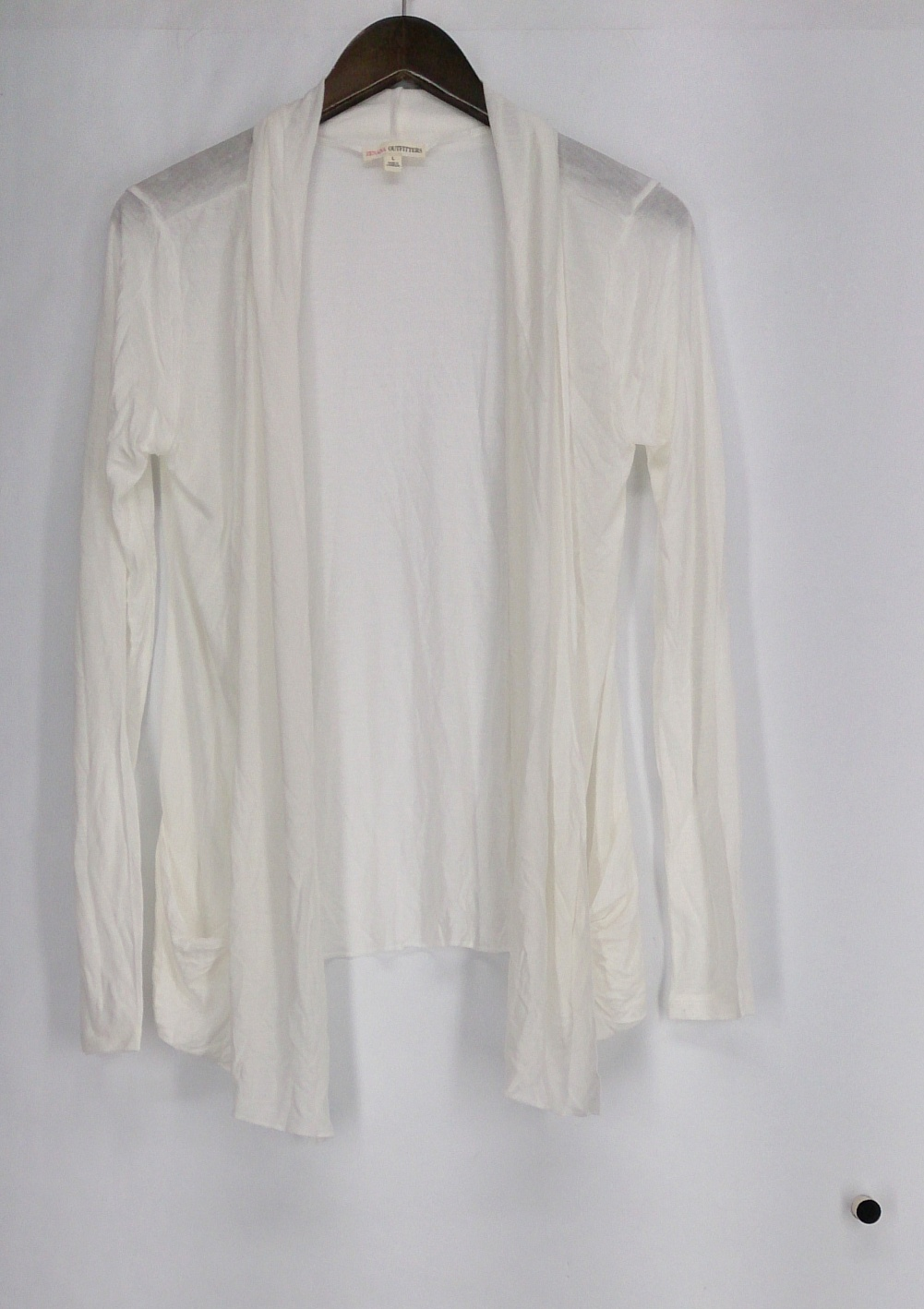 Zenana Outfitters Sweater L Long Sleeve Open Front Cardigans Heather White | eBay
